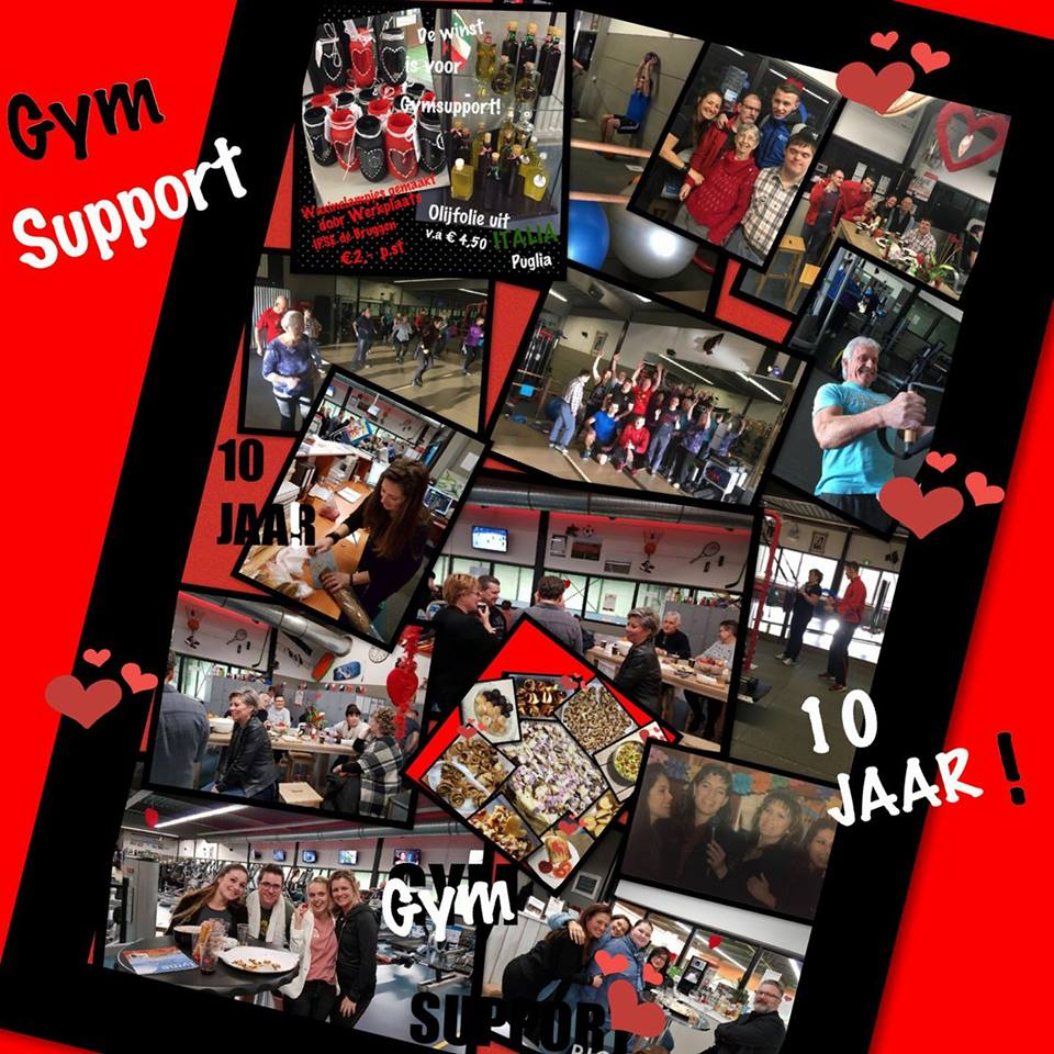 gym support 10 jaar