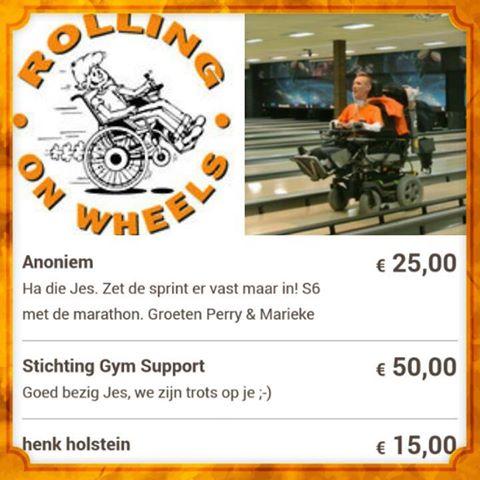 rolling on wheels