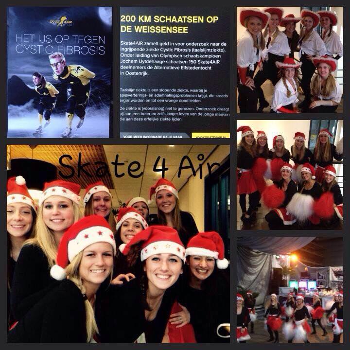 GYM-Support Girls gaven een spetterend optreden voor het goede doel en steunde Skate 4 Air..