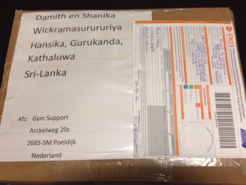 Verzonden Pakket naar Sri Lanka!