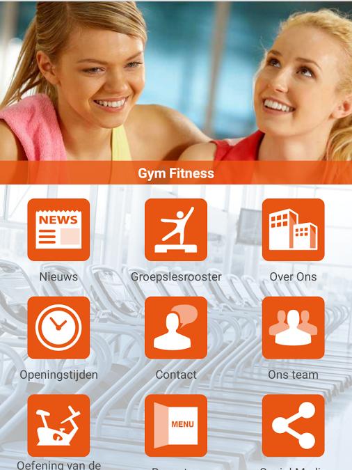 De nieuwe Gym Fitness App!