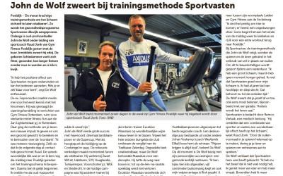 Sportvasten: Artikel Groot Westland met John de Wolf
