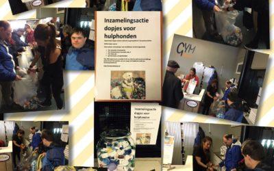 – Inzamelingsactie: Dopjes voor hulphonden