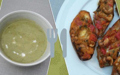 – Recept: Makkelijke courgette soep en gevulde zoete aardappel