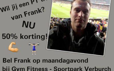 – Actie: PT training met 50% korting!