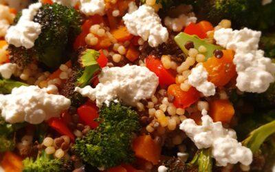 – Recept: Parel couscous met zoete aardappel, broccoli en linzen