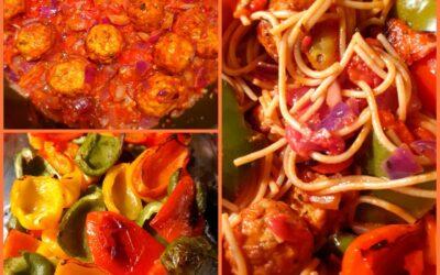 – Recept: Volkoren spaghetti met oven gegrilde paprika