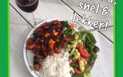 – Recept: Vegetarische snelle roerbak