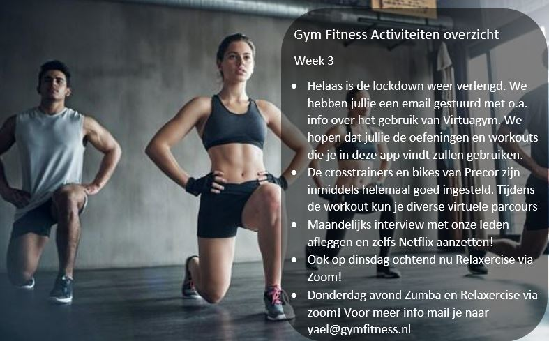 – Gym Fitness overzicht week 3