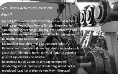 – Gym Fitness overzicht week 7
